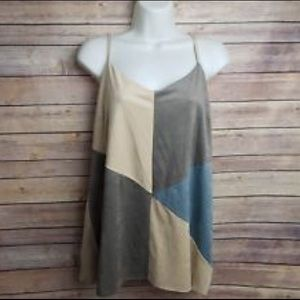 Anthropologie Crosby Geometric Tank - Medium